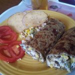 Pancakes with buckwheat flour